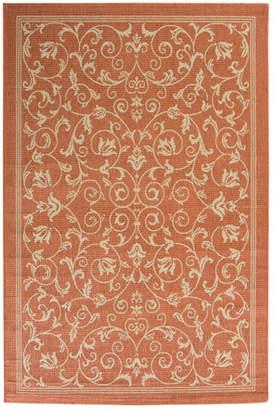 Alcott Hill Bexton Persian Terracotta/Natural Indoor/Outdoor Area Rug Rug