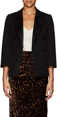 Lanvin Women's Satin-Trimmed Wool Double-Breasted Blazer