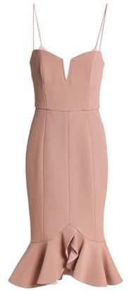 Nicholas Ruffle-Trimmed Stretch-Cady Dress