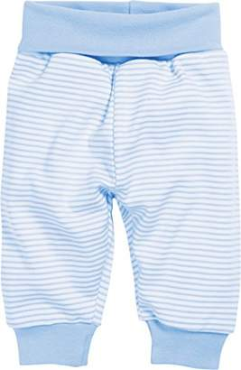 Playshoes Baby Cotton Striped Tracksuit Bottoms Trousers, (White/Blue), (Size: 92)