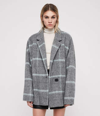 AllSaints Simi Check Coat