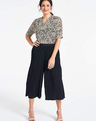 Fashion World Pleat Wide Leg Culottes