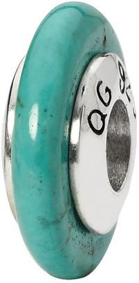 Prerogatives Sterling Blue Magnesite Thin Gemstone Bead