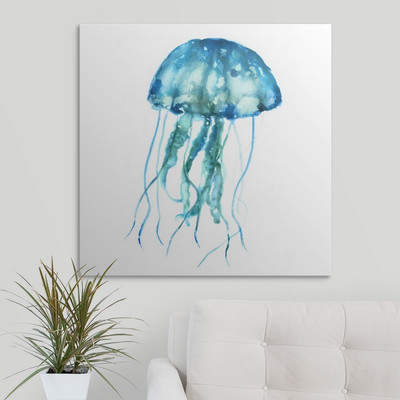 Wayfair 'Jellyfish' by Salzman Graphic Art Print on Canvas