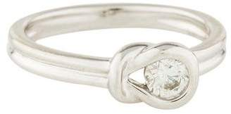 Ring 14K Diamond Knot