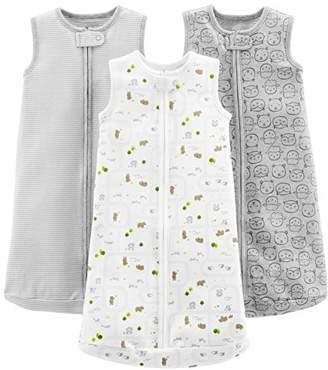 Carter's Simple Joys by Baby 3-Pack Cotton Sleeveless Sleepbag