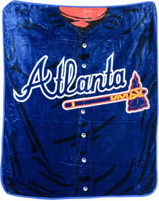 Northwest Company Atlanta Braves Plush Jersey Throw Blanket