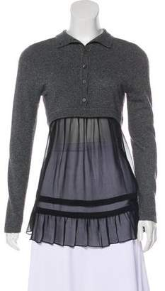 Philosophy di Alberta Ferretti Ruffle Turtleneck Sweater