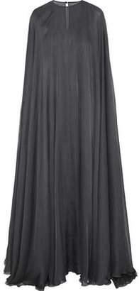 Valentino Cape-Effect Silk-Blend Chiffon Gown