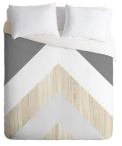 Deny Designs Iveta Abolina Chevron Peak Queen Duvet Set Bedding