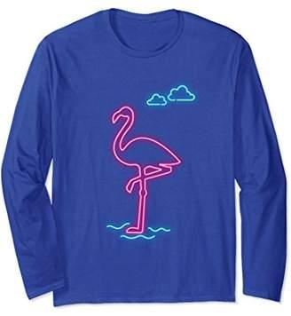 Flamingo Shirt - Pink Flamingo Flocks Bird Clouds Shirt