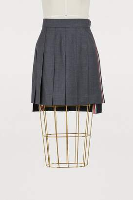 Thom Browne Wool pleated skirt