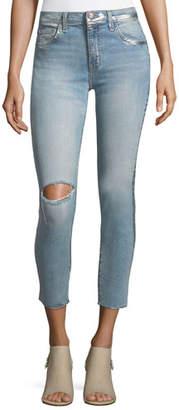 Current/Elliott The High-Waist Straight-Leg Stiletto Jeans