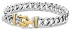 David Yurman Cable Buckle Singe-Row Bracelet with 14K Gold