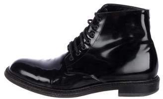 Saint Laurent Patent Leather Ankle Boots