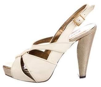Barbara Bui Leather Slingback Sandals