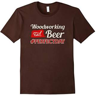 DAY Birger et Mikkelsen Woodworking and Beer Equals Perfect Hashtag T-Shirt