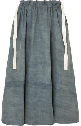 Loewe Denim Midi Skirt - Mid denim