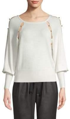 Ramy Brook Nadine Embellished Cutout Sweater