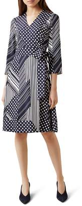 Hobbs London Shelly Mixed Print Wrap Dress