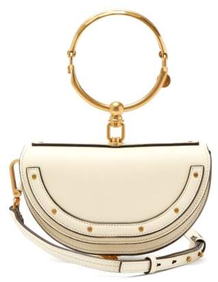 Chloé Nile Small Leather Clutch Bag - Womens - White