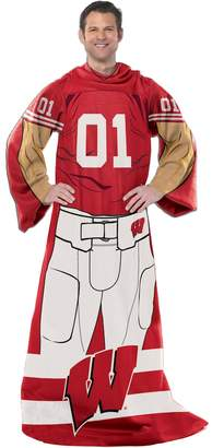 Kohl's Wisconsin Badgers Uniform Comfy Throw Blanket with Sleeves by Northwest