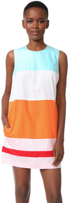 MDS Stripes Colorblock Shift Dress $495 thestylecure.com