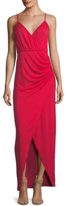 Rachel Pally Britta Spaghetti-Strap Surplice-Neck Cutaway Maxi Dress