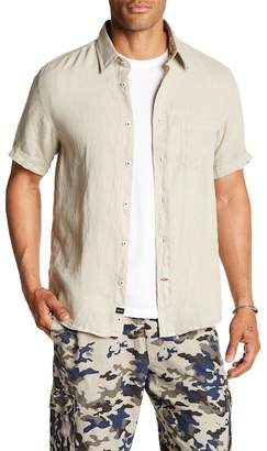 Benson Solid Short Sleeve Linen Modern Fit Shirt