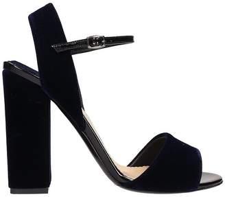 The Seller Blue Velvet Sandals