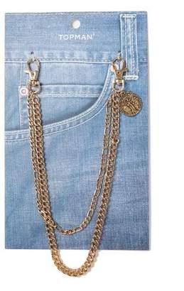 Topman Mens Gold Wallet Chain*