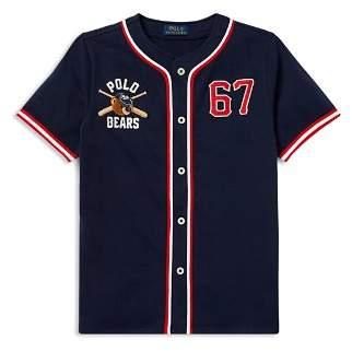 Ralph Lauren Boys' Polo Bear Cotton Baseball Jersey - Big Kid