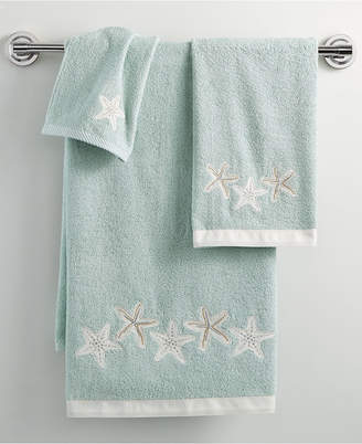 "Avanti Bath, Sequin Shells 16"" x 30"" Hand Towel"