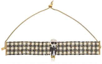 Karl Lagerfeld Beaded Choker Necklace