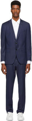 BOSS Navy Check Huge 6 Genius 5 Suit