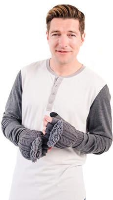 Muk Luks Men's Fingerless Flip Mittens