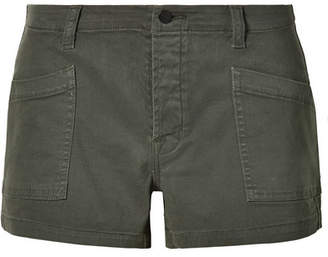 J Brand Brona Cotton-blend Twill Shorts - Green