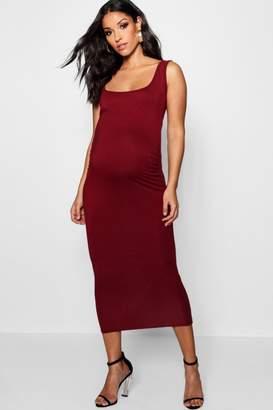 boohoo Maternity Over The Bump Bodycon Dress
