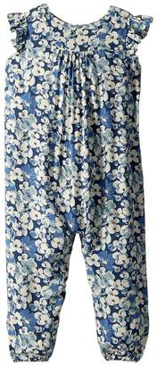 Ralph Lauren Floral Flutter-Sleeve Coverall Girl's Jumpsuit & Rompers One Piece