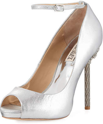 Badgley Mischka Deigo High Peep-Toe Dressy Sandal