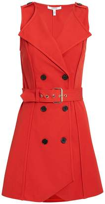 Derek Lam 10 Crosby Red Belted Trench Dress