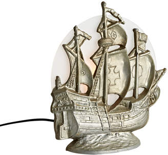 Rejuvenation Cast Metal Ship Radio Lamp w/ Etched Moon Shade