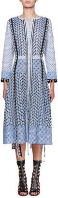 Altuzarra Grenelle Long-Sleeve Broderie Anglaise Midi Dress