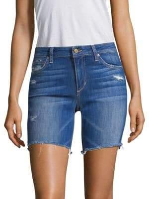Joe's Jeans Finn Bermuda Distressed Denim Shorts