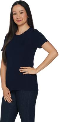 Linea By Louis Dell'olio by Louis Dell'Olio Whisper Knit Short Sleeve Top
