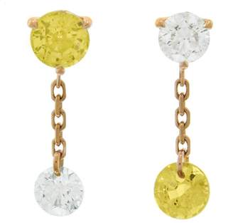 Raphaele Canot Set Free Yellow Sapphire Mismatch Stud Earrings