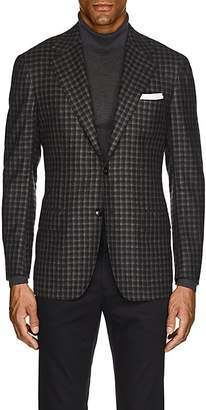 Kiton Men's KB Checked Cashmere Two-Button Sportcoat