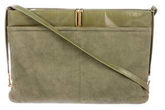 Charles Jourdan Suede & Leather Shoulder Bag