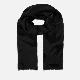 McQ Women's Swallow Cut Up Scarf - Darkest Black/Slate