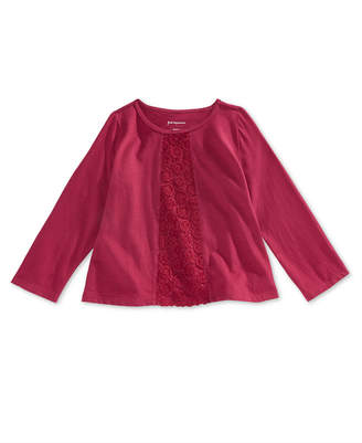 First Impressions Toddler Girls Crochet-Trim T-Shirt, Created for Macy's